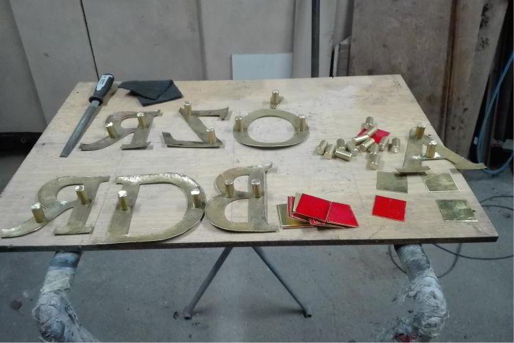 Repusowane litery DARZBÓR